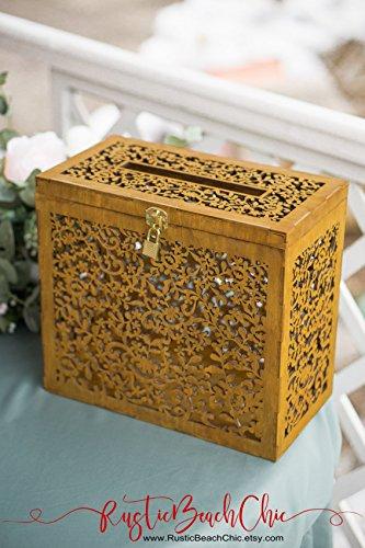 Wedding Card Box with Lock and Slot, Rustic Wedding Money Box, Keepsake Box, Wedding Box for Cards, Wedding Letter Box, Wedding Ideas, Gift