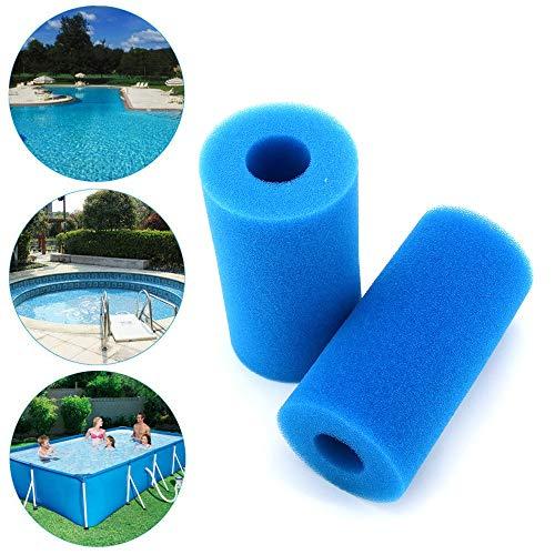 🥇 2 filtros de piscina reutilizables y lavables de espuma para bañera de hidromasaje Intex tipo A