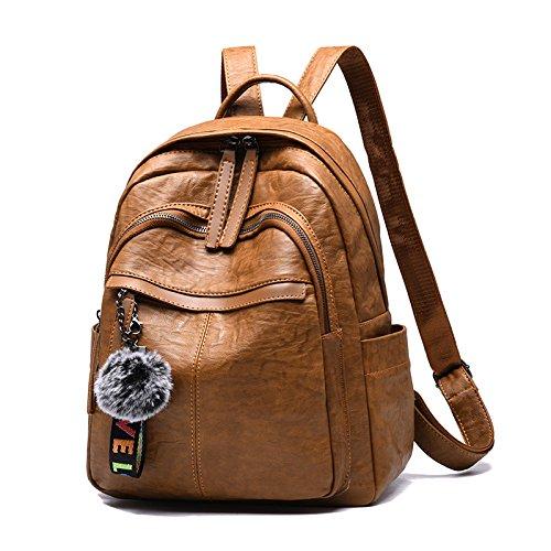 Sac à dos imperméable de petit sac à dos d'espoir pour femmes / filles, brun noir-27 * 17 32cm