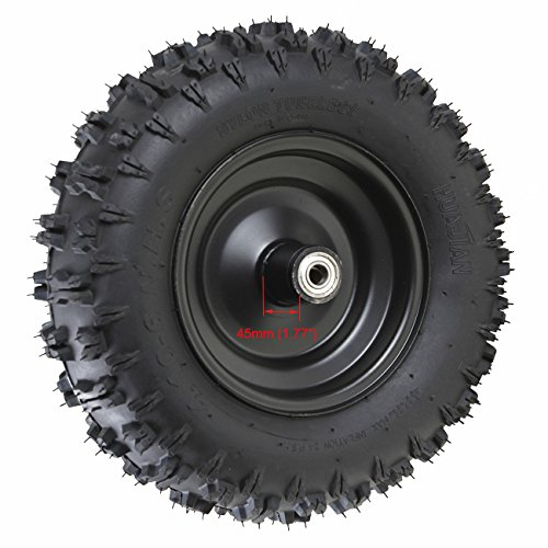 WPHMOTO 4 Sets of 4.10-6 Go Kart ATV Tubeless Tires with Rims | Front and Rear Tire for Scooter Quad Bikes 4 Wheelers by WPHMOTO (Image #2)