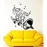 Art Saxophone Music Notes Musical Instrument HOT Sale New Art Vinyl Decals Wall Decor &Mural Removable Waterproof Wall Stickers For Bedroom Living Room