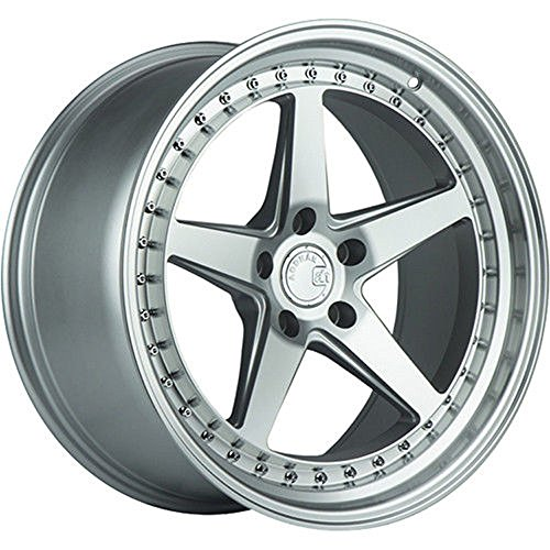 (Aodhan Wheels DS-05: 18x10.5, 5x114.3, 73.1, 15, (Silver w/Machined Face))