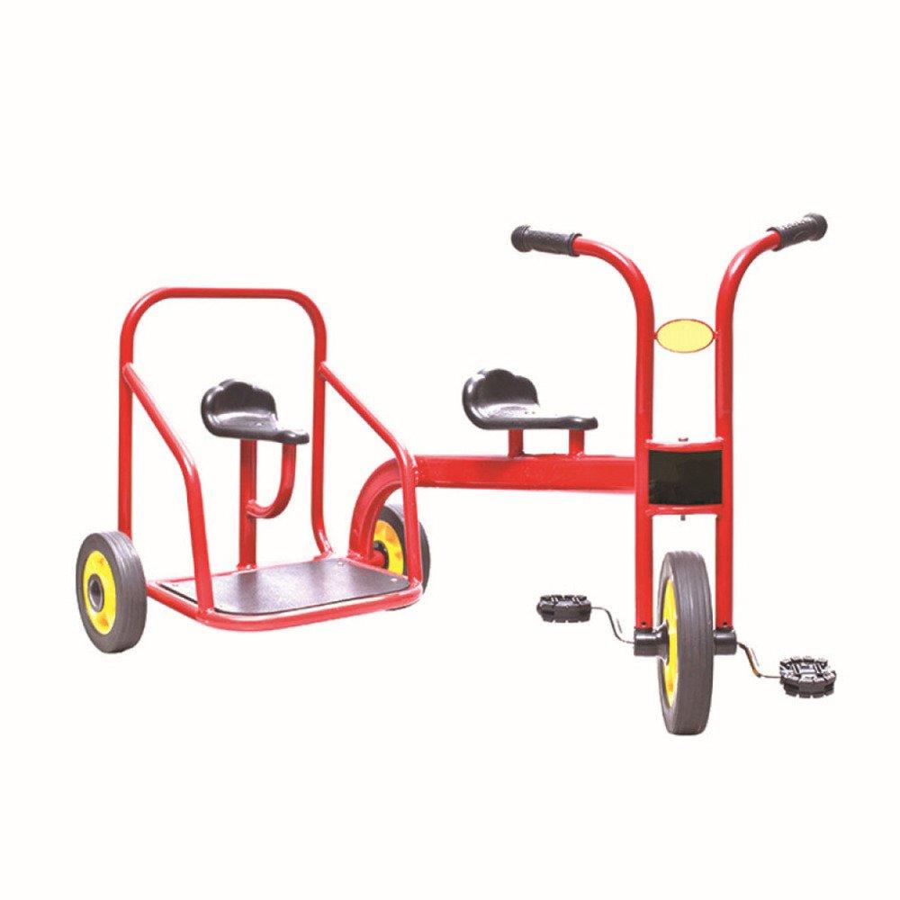Qxmei Triciclos De Ninos Bicicletas De Doble Plazas Pedal Coches De