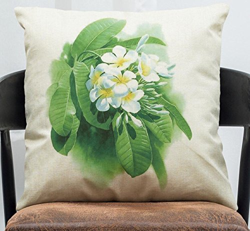 MAYUAN520 Cojines Simples Rosas Impresas Plantas Cubiertas ...