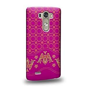 Case88 Premium Designs Art Collections Hand Drawing Aztec Mix Assorted Pink and Yellow Carcasa/Funda dura para el LG G3