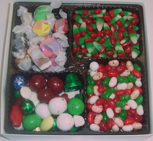 Scott's Cakes Large 4-Pack Christmas Mix Jelly Beans, Deluxe Christmas Mix, Reindeer Corn, & Nougat (Corn Nougat)