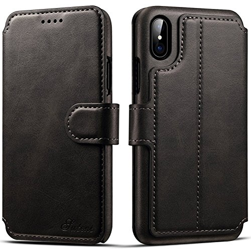 iPhone 7 Case, iPhone 8 Leather Wallet Case [Card Slot] [Kickstand View] [Magnetic Closure] Folio Flip Slim Cover (iPhone 7/8 (4.7
