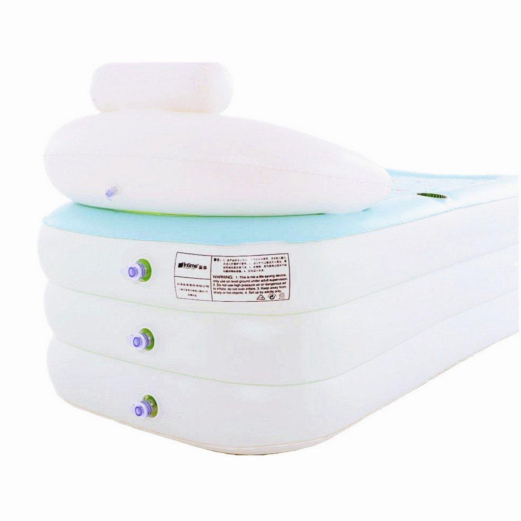 Intime Faltbare Aufblasbare Dicke Warme Erwachsene Badewanne Spa-Badewanne Wei/ß Kinder Aufblasbare Pool