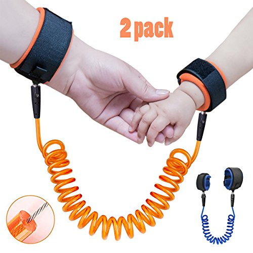 locisne-2pack-child-anti-lost-strap-skin-care-wrist-link-belt-sturdy-flexible-safety-harness-for-tra