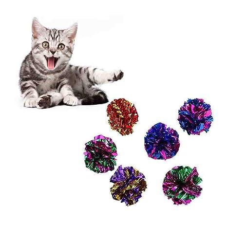 Mackur Pelotas de Arrugas para Mascotas, Juguetes para Gatos, Pelotas de óxido, Juguetes