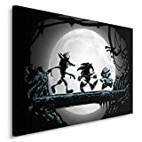 Feeby Single Panel Print, Wall Art Picture, Image Printed on Canvas, 23.62x15.74(60x40 cm), Gaming Matata - DDJVigo, GAME, BLACK