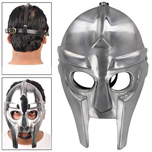 Mf Doom Mask Costume (Gladiator Style MF Doom Underground Supervillain Armor Rapper Mask)