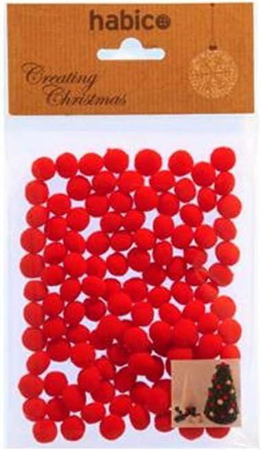 Mini 5mm Christmas Red Pom Pom Pack of 120