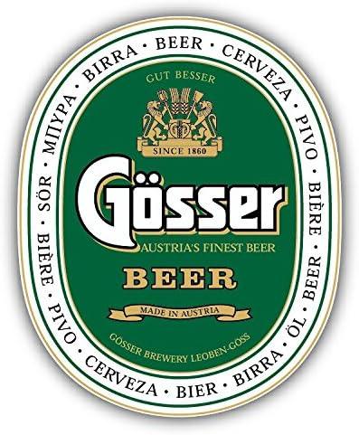 3/'/' Gosser Beer Logo Car Bumper Sticker Decal 5/'/' or 6/'/'