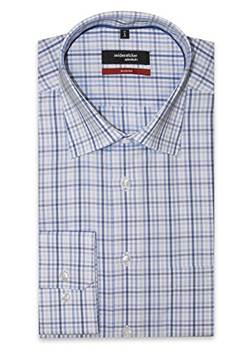 Seidensticker Herren Freizeit-Hemd blau blau Einheitsgröße