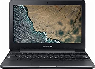 "Samsung 11.6"" Chromebook 3, Intel Celeron N3060 Processor, 4GB Memory, 16GB eMMC Storage, Bluetooth, Chrome OS, Black"