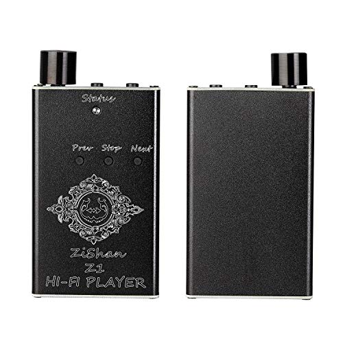 Portable Hi-fi Music Player DAC Headphone amp, DSD 64 192Khz/32bit High Resolution Lossless Digital Audio decoder Amplifier for DSF/DFF/ISO/ALAC/AAC/FLAC/APE/DTS/WAV, Include 16G TF Card and Reader