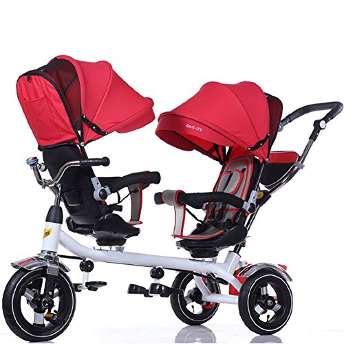 OLizee Baby Kids Toddler Twins Double Seats Tricycle