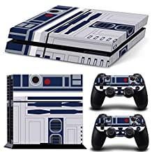 Ps4 Playstation 4 Console Skin Decal Sticker Star Wars R2D2 + 2 Controller Skins Set