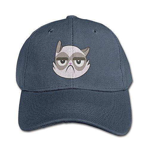 WH&SY Grumpy Cat Cutie Mark Canon Children Unisex Adjustable Pure 100% Cotton Peaked Cap Baseball Hunting Cap Snapback Navy