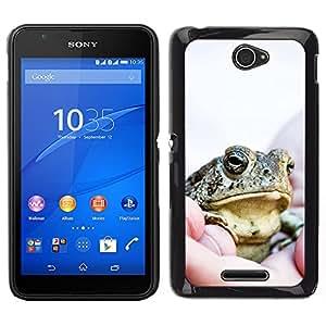 LECELL--Funda protectora / Cubierta / Piel For Sony Xperia E4 -- Feliz grandes frescos de la rana --