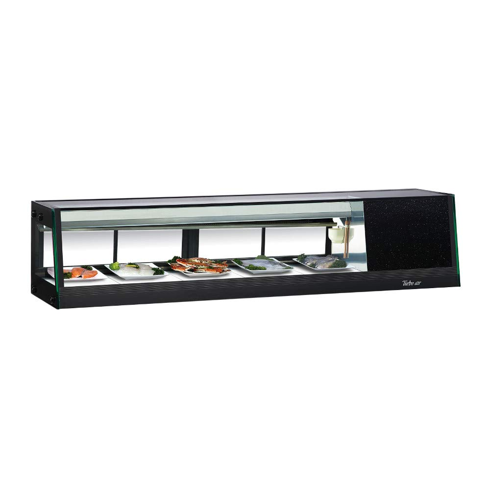 Turbo Air SAS-60L-N Refrigerated Sushi Case Compressor Located on Left 59W Black Exterior