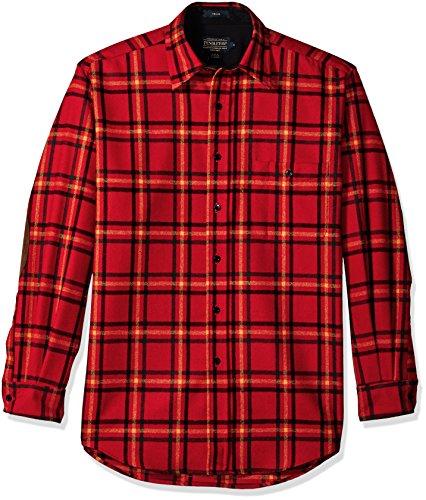 - Pendleton Men's Long Sleeve Button Front Classic-fit Trail Shirt, Rainier Park Plaid, SM