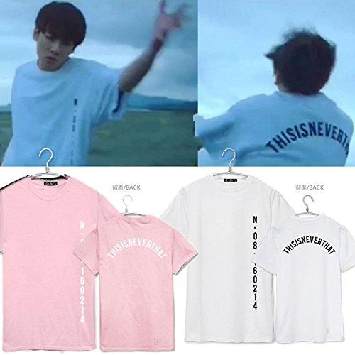 KPOP BTS SAVE ME Tshirt Jung Kook Same Style Tee Suga Jin Young Forever L White by babywearing (Image #2)
