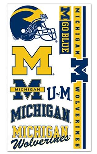 WinCraft NCAA University of Michigan Wolverines Temporary Tattoos Package Set