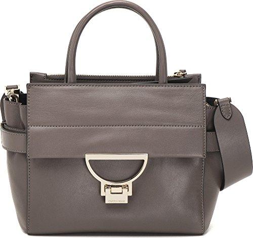 Coccinelle, Sac à main femme Sacs à main, bandoulière, cuir de bowling Bags, taupe, 30x 20x 12cm (B x H x T)