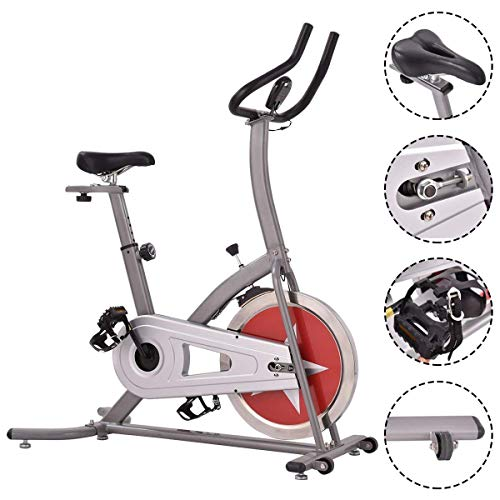 Cheap Gymax Indoor Cardio Fitness Exercise Bike Home Gym Cycling Stationary Bike