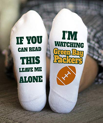 Green Bay Packers Socks Birthday Gifts Game Day Men's Football