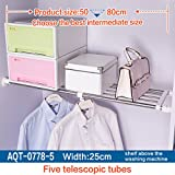 Hershii Tension Shelf Expandable Rod Closet