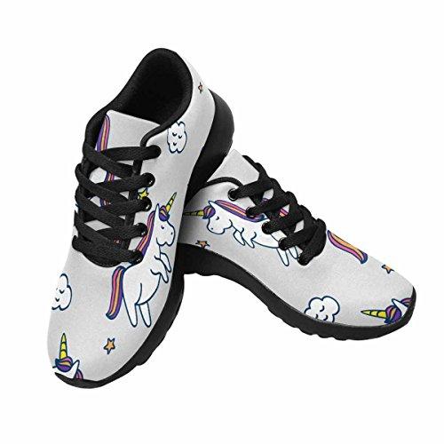 Chaussures De Course De Trailprint Womensprint Jogging Sports Légers Marchant Athlétisme Sneakers Licornes, Étoiles Et Nuage Multi 1