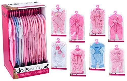 Dolls World 08505 Bekleidung für Babypuppen sortiert Puppen Zubehör ab 18 Monate