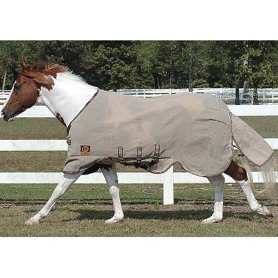 Rambo Protector Neck Cover, Oatmeal With Brown And Oatmeal, - Protector Rambo Sheet Fly