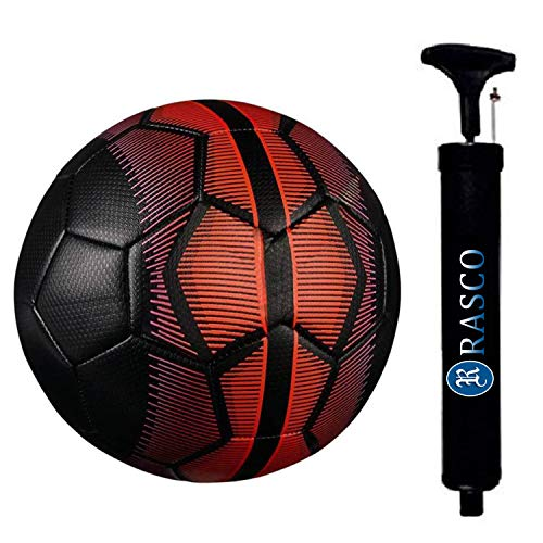 RASCO Combo Black Mercury Football with Air Pump