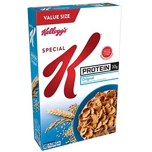 Kellogg's Special K Protein, Breakfast Cereal, Original, Good Source of Protein, Value Size, 19oz Box ()