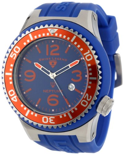Swiss Legend Men's 21818S-C-BS Neptune Royal Blue Silicone Watch, Watch Central