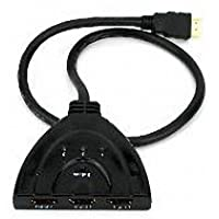 Generic 3 Port AUTO HDMI SWITCH SWITCHER SPLITTER HUB HD 1080p Cable Support 3D Color Black