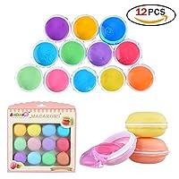 12 Coloré Slime Magique Cristal Macaron Slime Polymère de Boue de Cristal Clay Jouet Stress Reliever Putty Slime Jouet en Argile Kid Toys