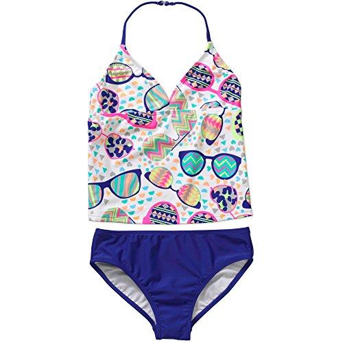 OP 2-Piece Tankini Medium Blue Sunglasses