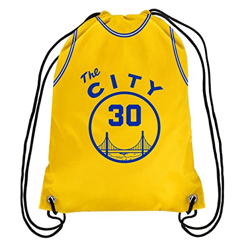 Golden State Warriors ''The City' Official NBA Drawstring Backpack Gym Bag - Stephen Curry by TBFC