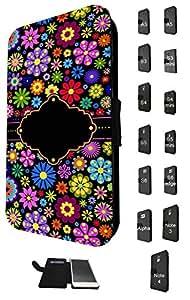 927–Colorfull Daisy Live Love Laugh design Samsung Galaxy S5I9600Fashion Trend TPU cuero bolso bolsa Defender soporte TPU funda de piel con tapa completa tarjeta de Crédito para