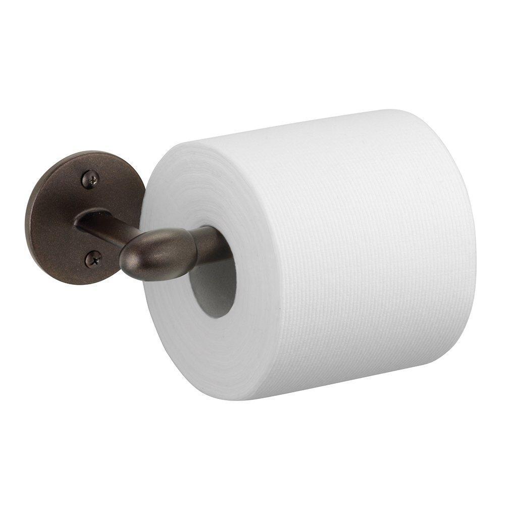 interdesign orbinni toilet paper holder for bathroom wall mount bronze