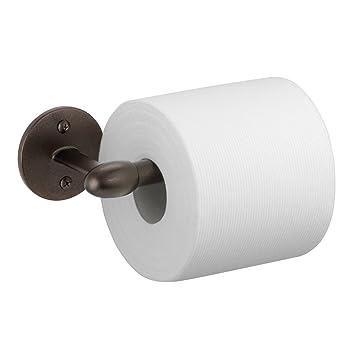 InterDesign Orbinni Toilet Paper Holder U2013 Wall Mounted Roll Dispenser For  Bathroom, Bronze
