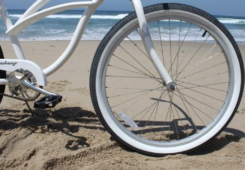 Firmstrong Urban Lady Alloy Single Speed Beach Cruiser Bicycle, 26-Inch, White by Firmstrong (Image #5)