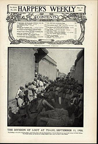 Division of Loot Tu-Liu Guns Soldiers Pawn Shop nice 1900 scarce vintage print