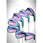 WYSTAO-Full-Set-di-Golf-Club-Le-Donne-12-Pezzi-con-telescopico-Bag-Il-Pacchetto-Include-3-Wood-Misto-5-PW-Irons-Normale