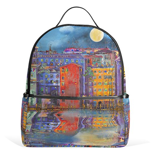 Top Carpenter Night In St Petersburg School Backpack Daypack Rucksack Shoulder Bag for Student - Shopping St In Petersburg